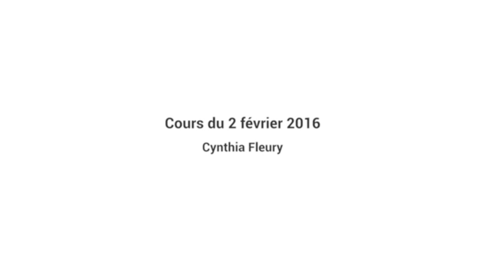 INTRODUCTION À LA PHILOSOPHIE À L'HÔPITAL - 2 Février 2016