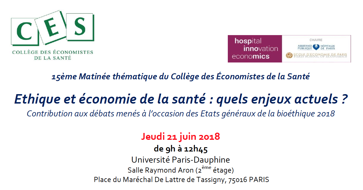 Ethique et économie de la santé : quels enjeux actuels ?