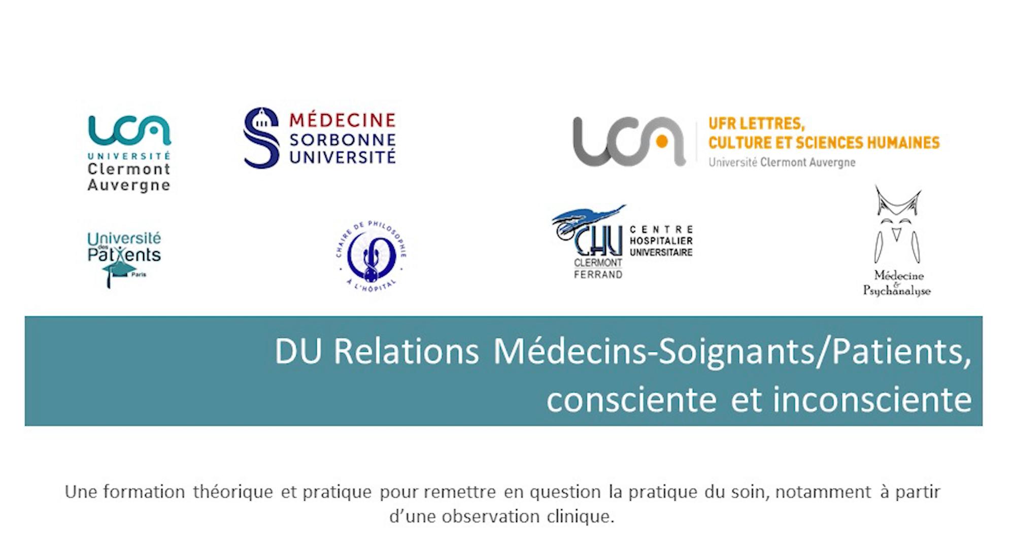 Présentation DU Médecins-soignants/patients, consciente et inconsciente