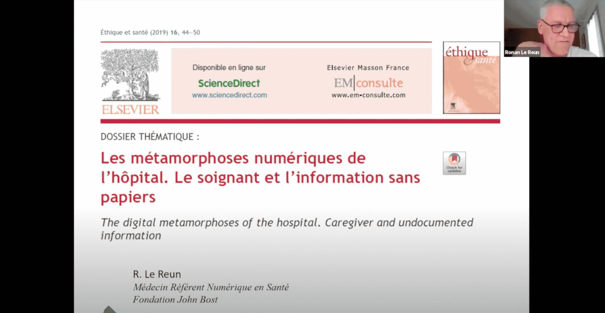 Ronan Le Reun : les données de santé à l'hôpital